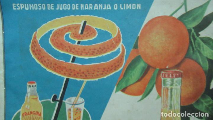 Carteles: Orangina Trinaranjus Doctor Trigo Valencia. Recorte publicidad. papel recio. 31 x 24 cm - Foto 2 - 194254292