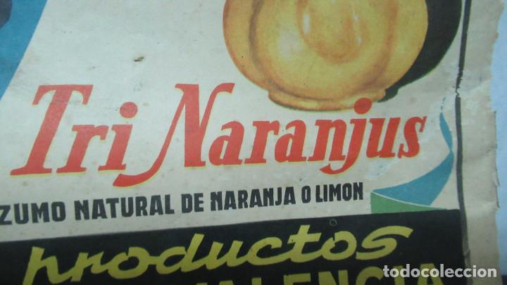 Carteles: Orangina Trinaranjus Doctor Trigo Valencia. Recorte publicidad. papel recio. 31 x 24 cm - Foto 3 - 194254292