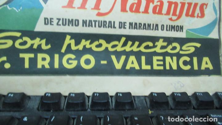 Carteles: Orangina Trinaranjus Doctor Trigo Valencia. Recorte publicidad. papel recio. 31 x 24 cm - Foto 5 - 194254292