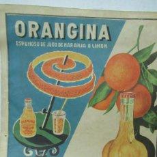 Carteles: ORANGINA TRINARANJUS DOCTOR TRIGO VALENCIA. RECORTE PUBLICIDAD. PAPEL RECIO. 31 X 24 CM. Lote 194254292
