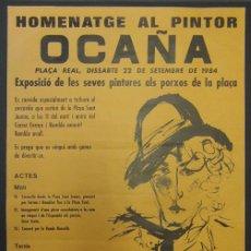 Carteles: *HOMENATGE AL PINTOR OCAÑA* BARCELONA 1984. MEDS: 642X440 MMS.. Lote 194685928