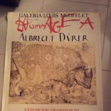 Carteles: GALERIA LOUIS MOUFFLET .ALBRECHT DUVER EXPOSICIOM GRABADOS DE SALVADOR DALI. Lote 194708343