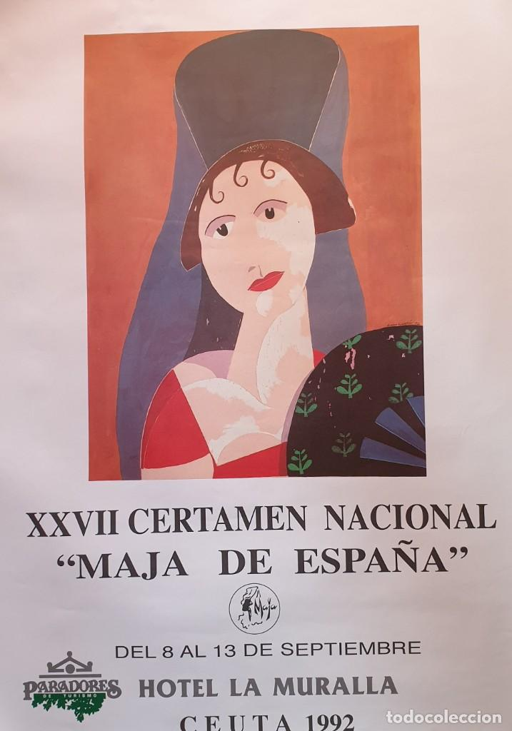 CARTEL CERTAMEN NACIONAL MAJA DE ESPAÑA 1992 (Coleccionismo - Carteles Gran Formato - Carteles Varios)