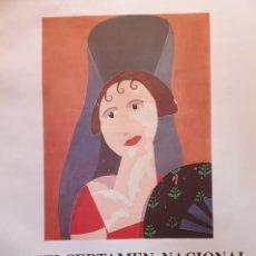 Carteles: CARTEL CERTAMEN NACIONAL MAJA DE ESPAÑA 1992. Lote 194714448