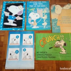 Carteles: LOTE 5 POSTERS VINTAGE SNOOPY SCHULZ 1958 , 1965 UNITED FEATURE SYNDICATE, INC. - ORIGINALES. Lote 194901097