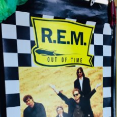 "Carteles: PÓSTER ORIGINAL PUBLICITARIO LANZAMIENTO DE ""OUT OF TIME"" R.E.M.. Lote 195048250"