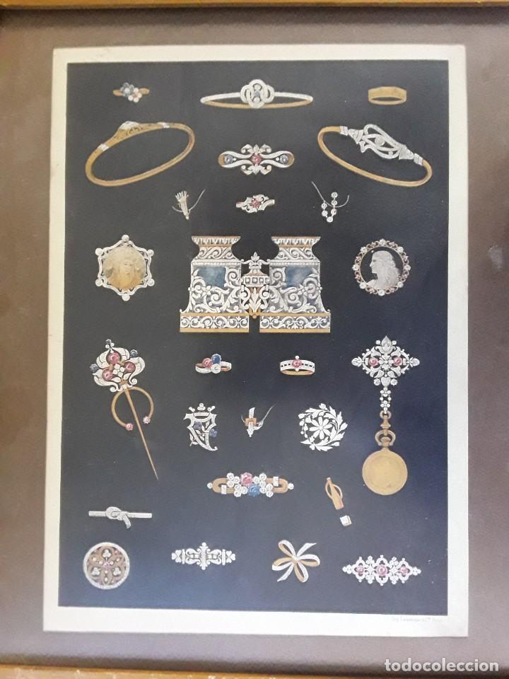 Carteles: Cartel Imp. Lemercier. Paris. Años 1910 - 20 de joyas Art Nouveau. Medidas: 34 cm x 24 cm. - Foto 2 - 195093548