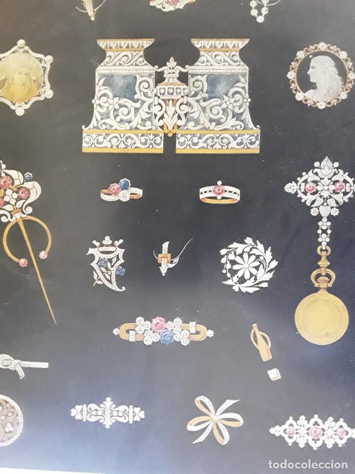 Carteles: Cartel Imp. Lemercier. Paris. Años 1910 - 20 de joyas Art Nouveau. Medidas: 34 cm x 24 cm. - Foto 3 - 195093548