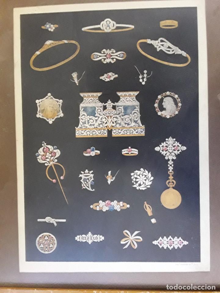 Carteles: Cartel Imp. Lemercier. Paris. Años 1910 - 20 de joyas Art Nouveau. Medidas: 34 cm x 24 cm. - Foto 4 - 195093548