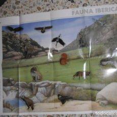 Carteles: PÓSTER ANTIGUO SERIE ANIMALES DEL MUNDO 12 ADHESIVOS PEGATINAS FAUNA IBÉRICA. ADENA.BANCO SANTANDER . Lote 195137395