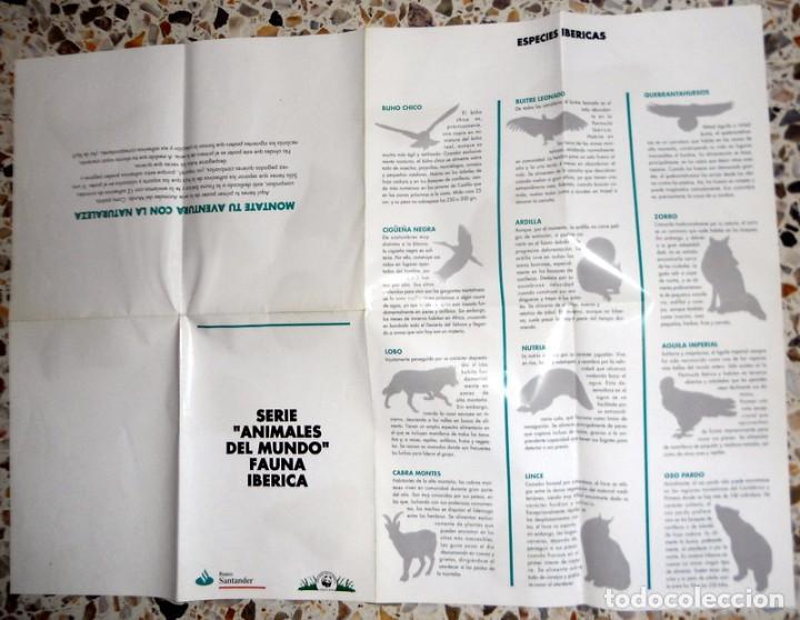 Carteles: PÓSTER ANTIGUO SERIE ANIMALES DEL MUNDO 12 ADHESIVOS PEGATINAS FAUNA IBÉRICA. ADENA.BANCO SANTANDER - Foto 2 - 195137395