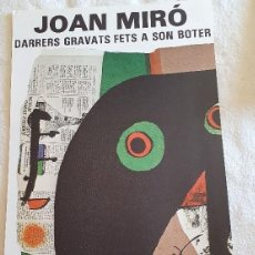 Carteles: JOAN MIRÓ. Lote 195264281