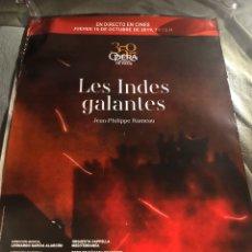 Carteles: OPERA PARIS LES INDES GALANTES POSTER CINE MUSICAL 70X100CM. Lote 195500747