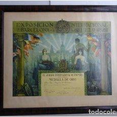 Carteles: AÑO 1929 - CARTEL DE LA EXPOSICION UNIVERSAL . Lote 195532567