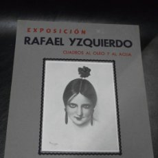 Carteles: 1947 CARTEL EXPOSICION DE RAFAEL YZQUIERDO GALERIAS LAYETANAS BARCELONA - ARTE BAILE. Lote 196531455