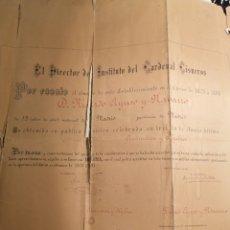 Carteles: MADRID 1880-81 TÍTULO OTORGADO COLEGIO SAN MIGUEL ARCÁNGEL TAL FOTOS. Lote 198017341