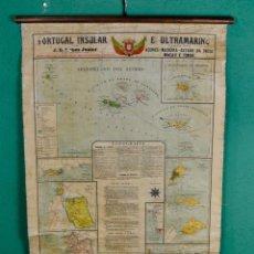 Carteles: MAPA COLEGIO PORTUGAL INSULAR Y COLONIAS. Lote 53655325