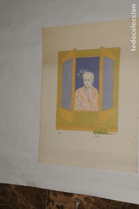 LITOGRAFÍA 43/300 - FIRMADO LANP SAON (Coleccionismo - Carteles Gran Formato - Carteles Varios)