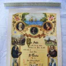Cartazes: JML CARTEL RECORDATORIO FAMILIAR NACIMIENTO -AVELY ORLA- ORLAS-.SEVILLA 1970 28X41 CM VER FOTOS.. Lote 199133200