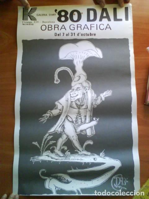 1980 CARTEL DE DALÍ - RARO Y DIFÍCIL DE OBTENER (Coleccionismo - Carteles Gran Formato - Carteles Varios)