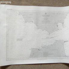 Carteles: PÒSTER MAPA MARÍTIMO ESTRECHO DE GIBRALTAR. Lote 199351633