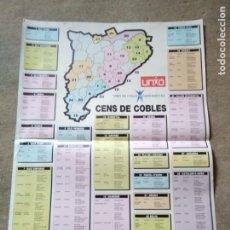 Carteles: PÒSTER CENSO DE COBLAS. Lote 199352490