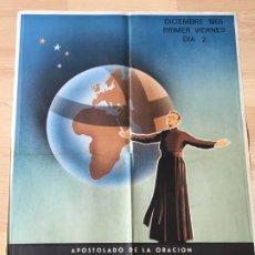 Carteles: (M) CARTEL ORIGINAL - APOSTOLADO DE LA ORACIÓN - INTENCIÓN MISIONAL UNIVERSIDADES DE JAPON DIC. 1955. Lote 199464871