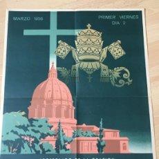 Carteles: (M) CARTEL ORIGINAL - APOSTOLADO DE LA ORACIÓN - INTENCIÓN MISIONAL DE AFRICA, MARZO 1956. Lote 199465065
