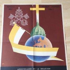 Carteles: (M) CARTEL ORIGINAL - APOSTOLADO DE LA ORACIÓN - INTENCIÓN MISIONAL AMERICA LATINA, MARZO 1957. Lote 199465715