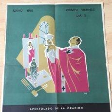 Carteles: (M) CARTEL ORIGINAL - APOSTOLADO DE LA ORACIÓN - INTENCIÓN MISIONAL IGLESIA PAKISTAN, MAYO 1957. Lote 199466012