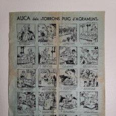 Carteles: BONITA AUCA EN CATALAN DELS TORRONS PUIG D´AGRAMUNT . TAMAÑO 43 X 31 --ORIGINAL. Lote 199504047