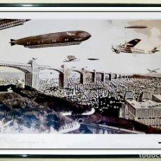 Carteles: BONITO CARTEL VINTAGE - BARCELONA FUTURA- ILUSTRACION PUBLICADA POR REVISTA IBERO AMERICANA Nº3 1930. Lote 199984361