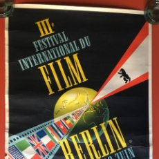 Carteles: IIIE FESTIVAL INTERNATIONAL DU FILM BERLIN - 1953 85,5X60,5CM - POSTER CARTEL AFFICHE PLAKATE . Lote 199996627