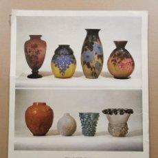 Carteles: ANTIGUO CARTEL EXPOSICIÓN ARTE - EL VIDRE ART NOUVEAU ART DECÓ 1890-1940. DAU AL SET. 1979 / C-330. Lote 200865568