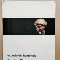 Carteles: ANTIGUO CARTEL ARTE. EXPOSICIÓN HOMENAJE A ENRIC CASANOCAS. PINACOTECA TOSSA. AÑO 1975 / C-333. Lote 200865632