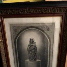 Carteles: GRAN CARTEL ENMARCADO VIRGEN DEL PILAR S XIX ISABEL II Y FRANCISCO ASIS SIGLO XIX. Lote 201205401