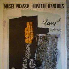 Carteles: ANTONI CLAVÉ. TAPISSERIES. MUSÉE PICASSO. CHATEAU D'ANTIBES. 1977. Lote 201333165