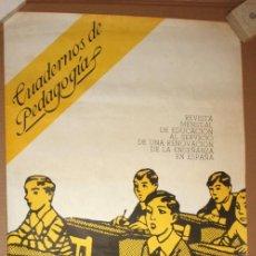 Carteles: CARTEL DE CUADERNOS DE PEDAGOGÍAS. 80 CM X 40 CM. Lote 202937318