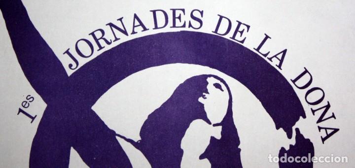 Carteles: CARTELL 1es JORNADES DE LA DONA AL PAÍS VALENCIÀ (DESEMBRE 1977). 43,5 CM X 31,5 CM - Foto 2 - 202943432