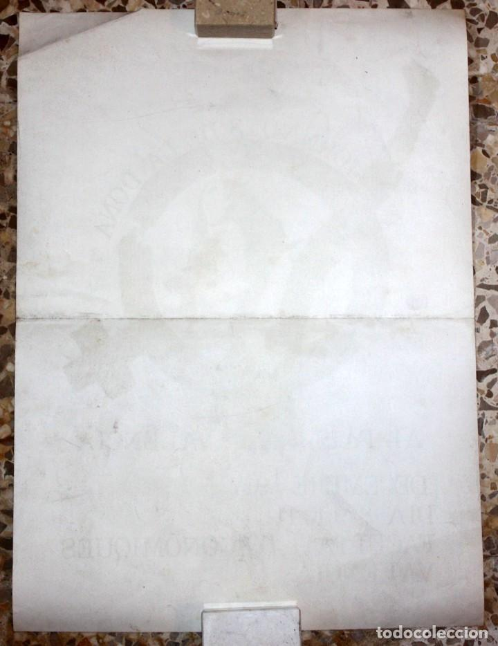 Carteles: CARTELL 1es JORNADES DE LA DONA AL PAÍS VALENCIÀ (DESEMBRE 1977). 43,5 CM X 31,5 CM - Foto 6 - 202943432