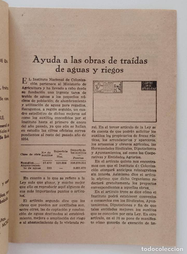 Carteles: GRAN CARTEL DE LA ACTUALIDAD. MURAL EDUCATIVO. NÚMERO 10 MAYO 1955. CON SU GUÍA. 112 X 77 - Foto 5 - 203317162