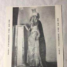Carteles: CARTEL REINA DEL CARNAVAL 1936 SANTA CRUZ DE TENERIFE - 40 X 30 CM. Lote 204480513