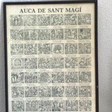 Carteles: AUCA ENMARCADA DE SANT MAGI. 1984. GOGISTES TARRAGONINS. JOSEP RIERA. 900 EXEMPLARS. TARRAGONA. Lote 204764570