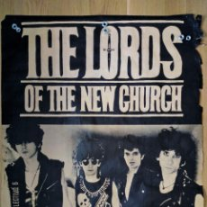 Cartazes: CARTEL CONCIERTO LORDS OF THE NEW CHURCH EN VALLADOLID, AÑOS 80. Lote 204997013