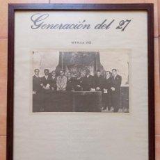 Carteles: CARTEL 50 AÑOS GENERACION DEL 27- RAFAEL ALBERTI, FEDERICO GARCIA LORCA.. Lote 205040802