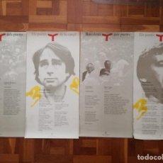 Carteles: LOTE 4 POSTERS BARCELONA DEL POETES. PACO IBAÑEZ, OVIDI MONTLLOR, LEO FERRE, BORIS VIAN.... Lote 205332568
