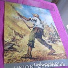 Carteles: CARTEL DE UNION ESPAÑOLA DE EXPLOSIVOS ILUSTRADO POR J. UNTURBE 52 X 69 .AÑO 1960.. Lote 205831292