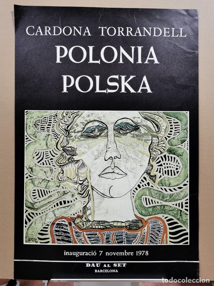 ANTIGUO CARTEL EXPOSICIÓN ARTE - CARDONA TORRANDELL. POLONIA POLSKA. DAU AL SET. 1978 / C-339 (Coleccionismo - Carteles Gran Formato - Carteles Varios)