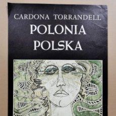 Carteles: ANTIGUO CARTEL EXPOSICIÓN ARTE - CARDONA TORRANDELL. POLONIA POLSKA. DAU AL SET. 1978 / C-339. Lote 206907171