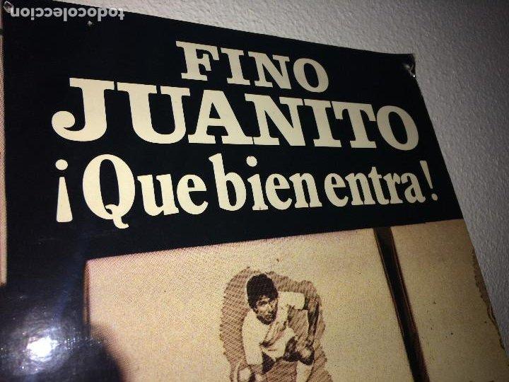 Carteles: FINO JUANITO - GRAN CARTEL DE CARTON - ÚNICO EN TODOCOLECCIÓN - 68 X 48 CMS. - Foto 5 - 206943828